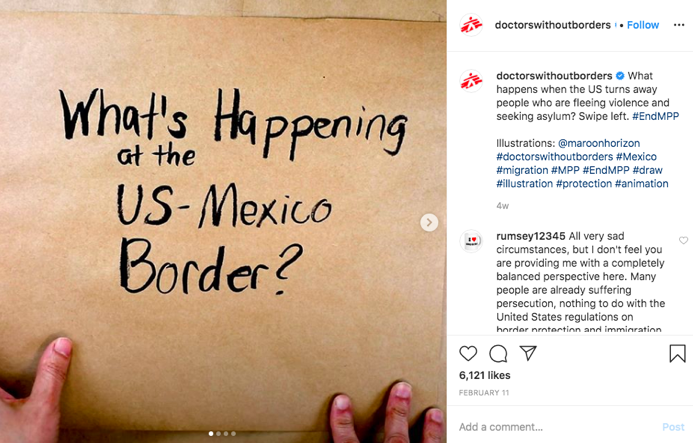 Doctors without Borders Instagram