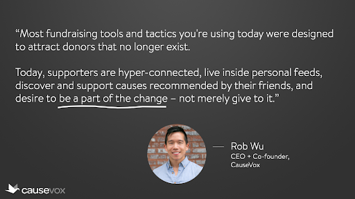 Fundraising Quote from Rob Wu
