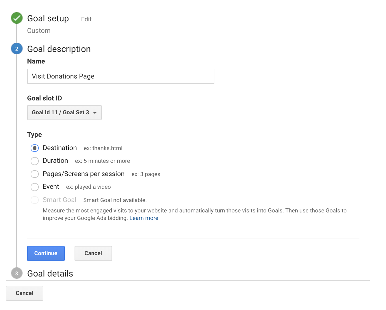 Google Analytics_Set Custom Goal