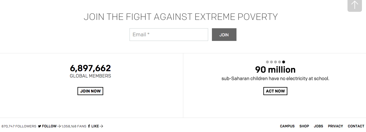 Join the fight against extreme poverty ONE