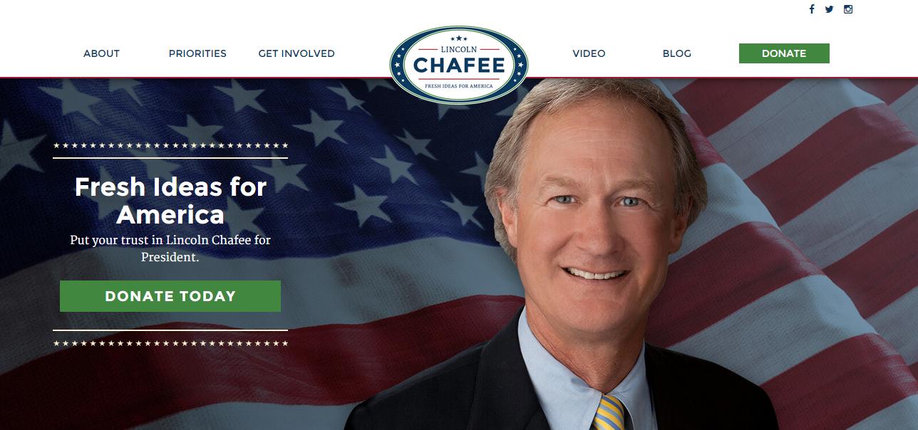 Chafee user experience websit