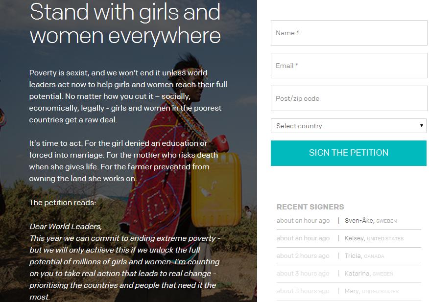 ONE nonprofit website