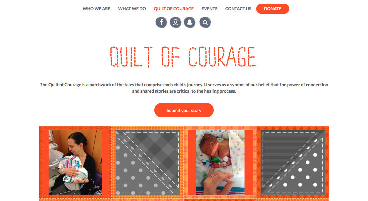 Quilt of Courage - Submit your story