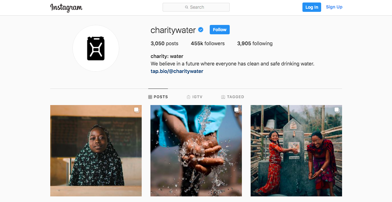 Storytelling through Instagram - CharityWater