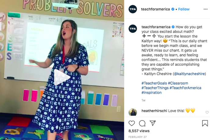 Teach for America Instagram video