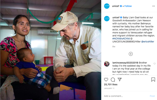 UNICEF Instagram