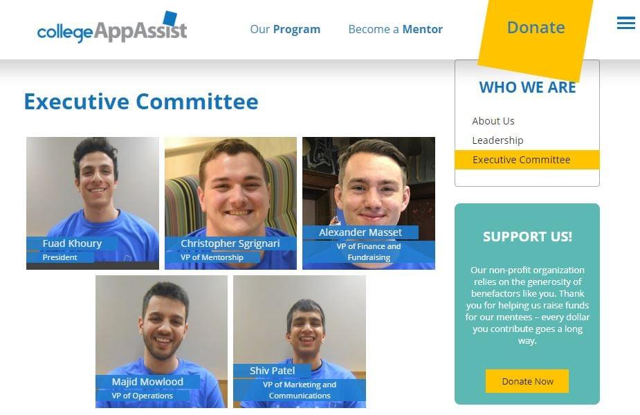 college app assist bios page