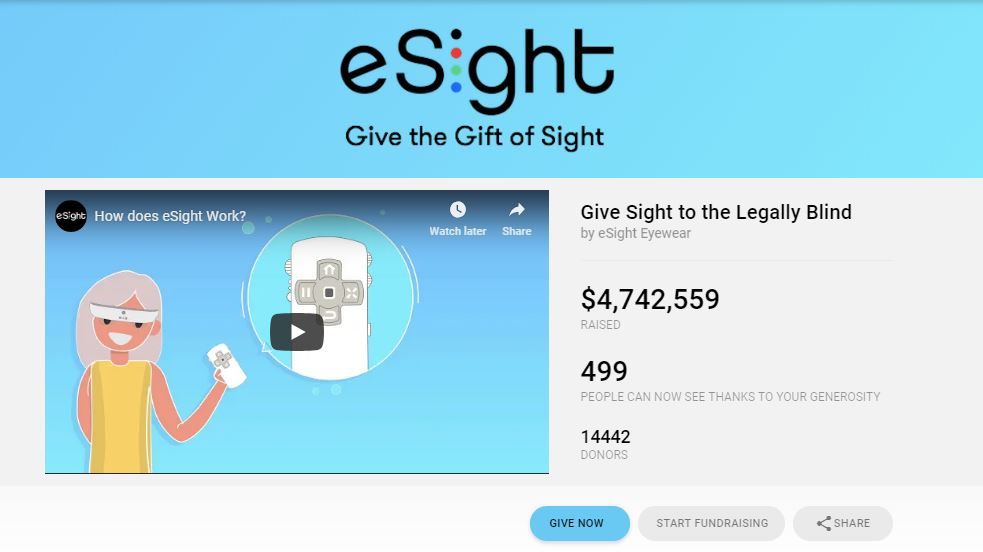 e-Signt focuses on giving sight, a positive story