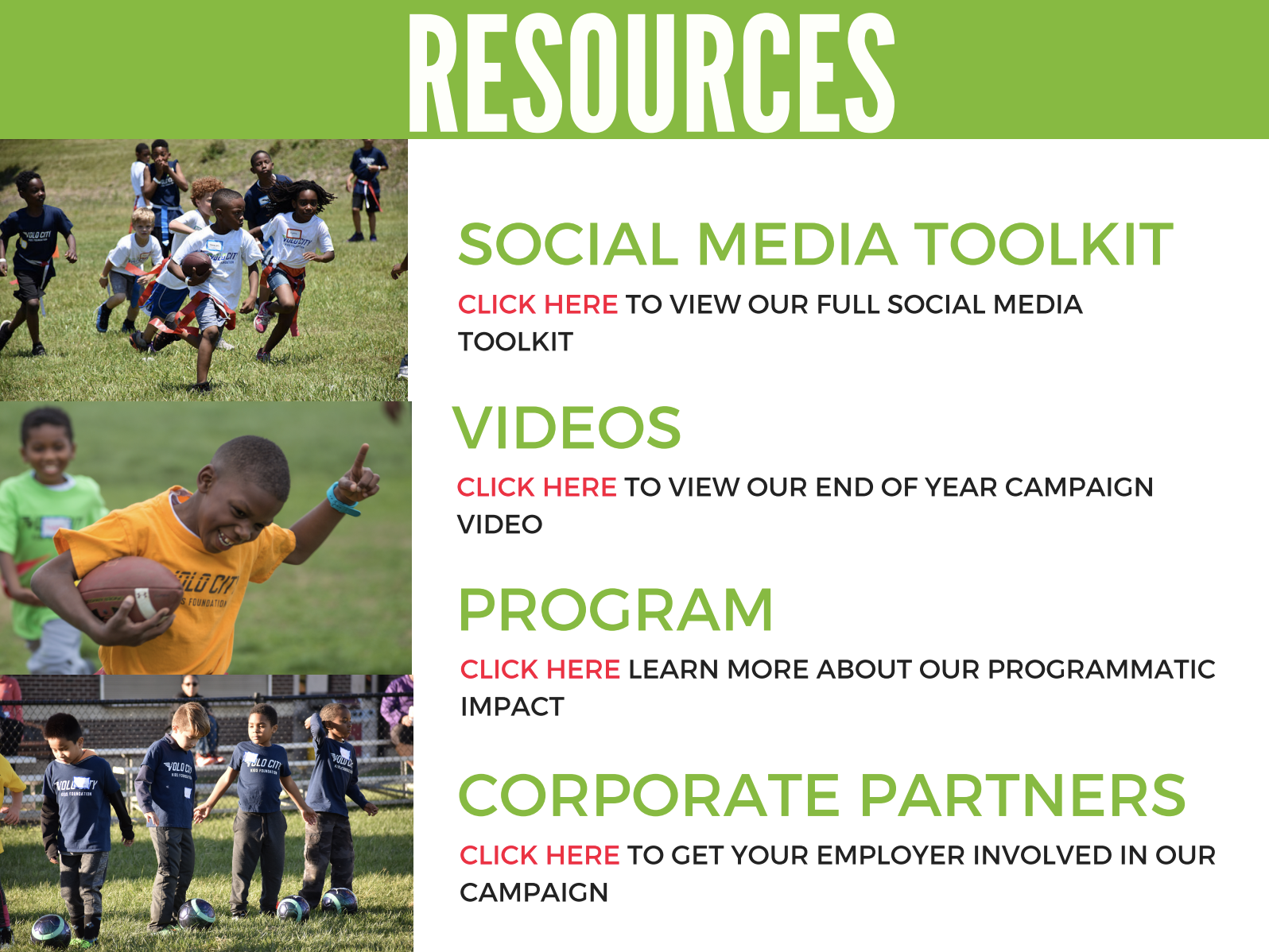 Resources for fundraisers